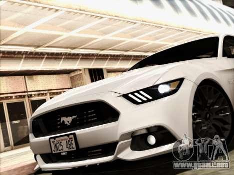 Ford Mustang GT 2015 v2 para GTA San Andreas vista posterior izquierda