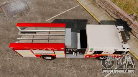 Firetruck FDLC [ELS] para GTA 4 visión correcta