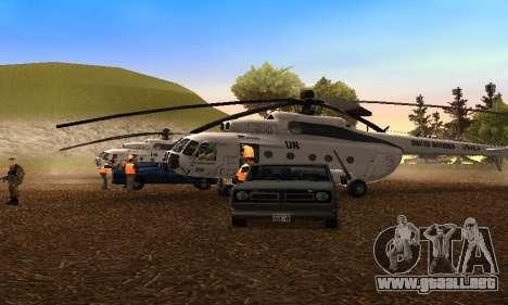 MI 8 ONU (Naciones Unidas) para GTA San Andreas left