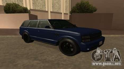 Baller GTA 5 para GTA San Andreas vista hacia atrás