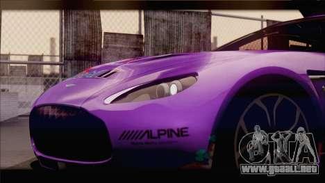 Aston Martin V12 Zagato 2012 [IVF] para las ruedas de GTA San Andreas