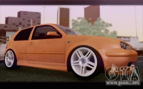 Volkswagen Golf IV para visión interna GTA San Andreas