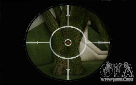 rifle de francotirador de 7.62 Dragunov SVD-s para GTA San Andreas sucesivamente de pantalla