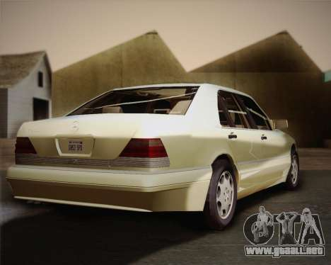 Mercedes-Benz S600 V12 Custom para GTA San Andreas vista hacia atrás