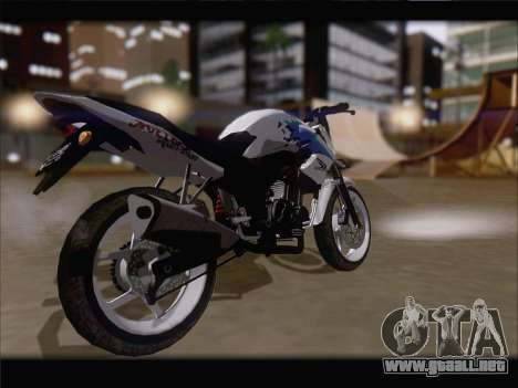 Honda CB150R StreetFire para GTA San Andreas vista posterior izquierda