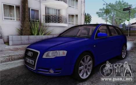 Audi A4 2005 Avant 3.2 Quattro Open Sky para GTA San Andreas