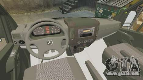 Mercedes-Benz Sprinter [ELS] London Ambulance para GTA 4 vista hacia atrás