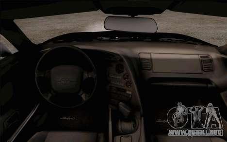 Toyota Supra Mk IV para la visión correcta GTA San Andreas