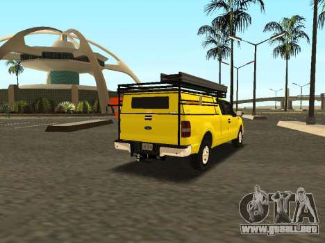 Ford F-150 para GTA San Andreas vista hacia atrás