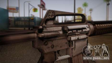 M4 de Max Payne para GTA San Andreas sucesivamente de pantalla