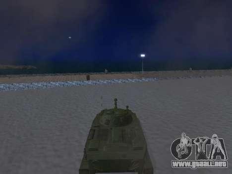 PT-76 para GTA San Andreas vista hacia atrás