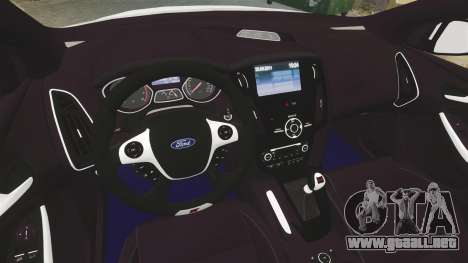Ford Focus 2013 Uk Police [ELS] para GTA 4 vista interior