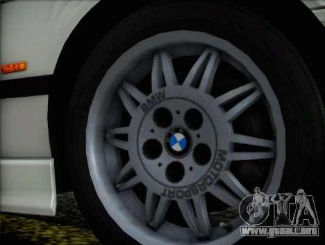 BMW M3 E36 para GTA San Andreas vista posterior izquierda