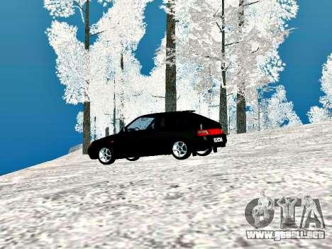 LADA 2112 Coupe verde Sandpiper para la visión correcta GTA San Andreas
