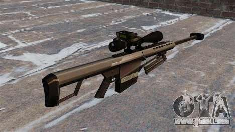 El francotirador Barrett M82 rifle 50 Cal para GTA 4 segundos de pantalla