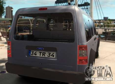 Ford Transit Connect para GTA 4 left