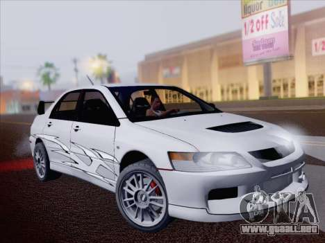 Mitsubishi Lancer Evo IX MR Edition para la vista superior GTA San Andreas