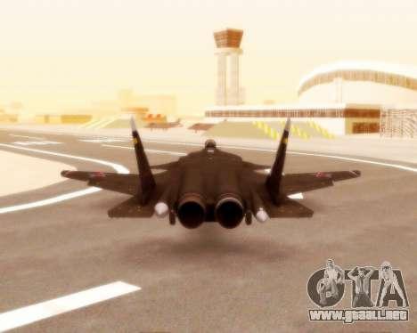 Su-47 Berkut v1.0 para visión interna GTA San Andreas
