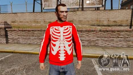 Suéter rojo-esqueleto - para GTA 4