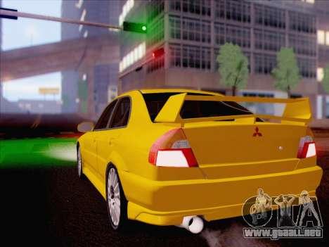 Mitsubishi Lancer Evolution VI LE para GTA San Andreas left