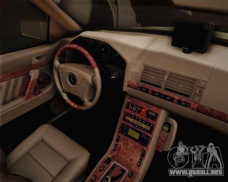 Mercedes-Benz S600 V12 Custom para la visión correcta GTA San Andreas