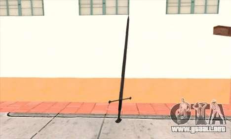 Sword Narsil para GTA San Andreas segunda pantalla