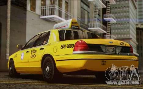 Ford Crown Victoria LA Taxi para visión interna GTA San Andreas