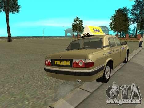 GAZ 31105 Volga Taxi para la visión correcta GTA San Andreas