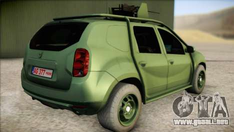 Dacia Duster Army Skin 1 para GTA San Andreas left