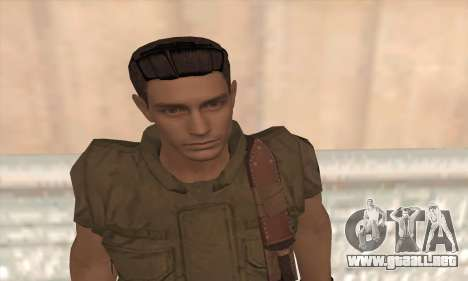 Chris Redfield v2 para GTA San Andreas tercera pantalla