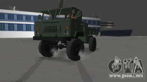 GAZ 66 para GTA Vice City vista posterior
