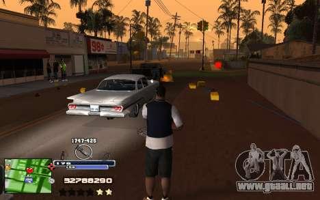 C-HUD Into para GTA San Andreas tercera pantalla