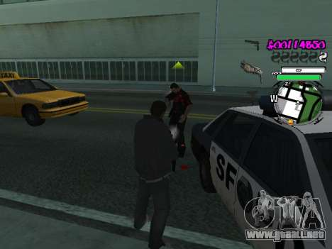 HUD para GTA San Andreas sucesivamente de pantalla