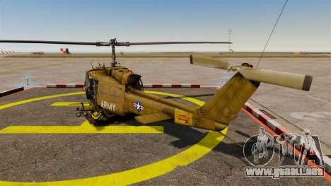 Bell UH-1 Iroquois v2.0 Gunship [EPM] para GTA 4 Vista posterior izquierda
