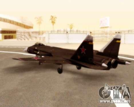 Su-47 Berkut v1.0 para GTA San Andreas vista hacia atrás