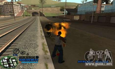 C-HUD CutHot para GTA San Andreas segunda pantalla