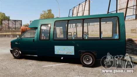 GTA V Brute Tour Bus para GTA 4 left