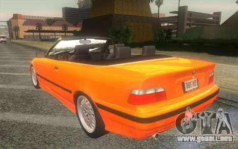 BMW 325i E36 Convertible 1996 para GTA San Andreas left
