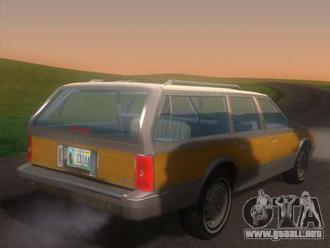 Oldsmobile Cutlass Ciera Cruiser para GTA San Andreas left