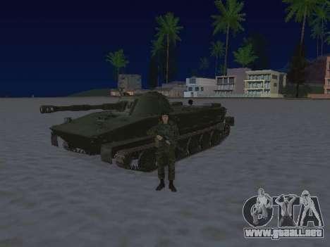 PT-76 para GTA San Andreas vista posterior izquierda