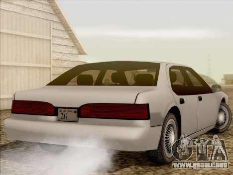 Fortune Sedan para GTA San Andreas left