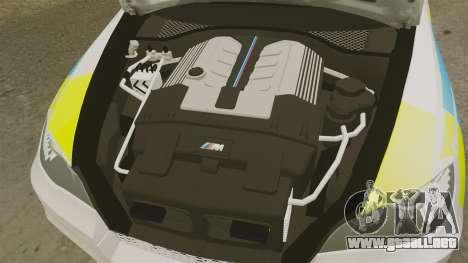 BMW X5 City Of London Police [ELS] para GTA 4 vista interior