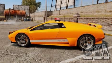 Infernus Police para GTA 4 left