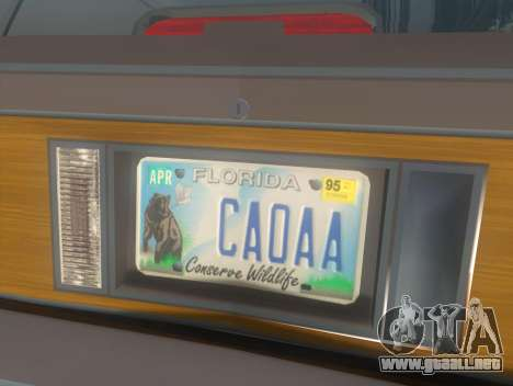 Oldsmobile Cutlass Ciera Cruiser para GTA San Andreas vista hacia atrás