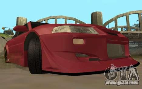 Mitsubishi Lancer Evolution VI para GTA San Andreas vista hacia atrás