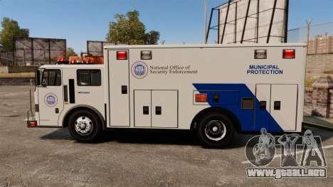 Hazmat Truck NOOSE [ELS] para GTA 4 left