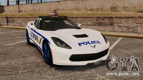 Chevrolet Corvette C7 Stingray 2014 Police para GTA 4