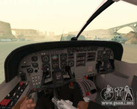 Cessna 208B Grand Caravan para la vista superior GTA San Andreas