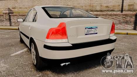 Volvo S60R para GTA 4 Vista posterior izquierda