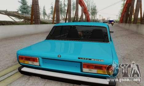 VAZ 2107 Coupe para la visión correcta GTA San Andreas